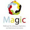 Middleware for collaborative Applications and Global vIrtual Communities - MAGIC