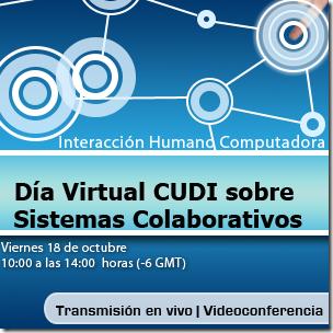 18 de octubre | Día Virtual sobre Interacción Humano-Computadora sobre Sistemas Colaborativos