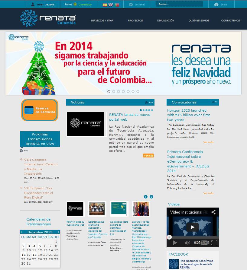 Red nacional de Colombia, RENATA, lanza su nuevo portal web